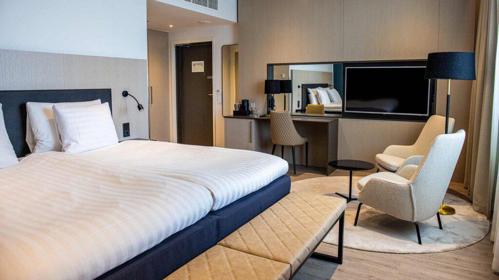 Hotelli Hotel Mattsin junirsviitti Espoon Matinkylässä.