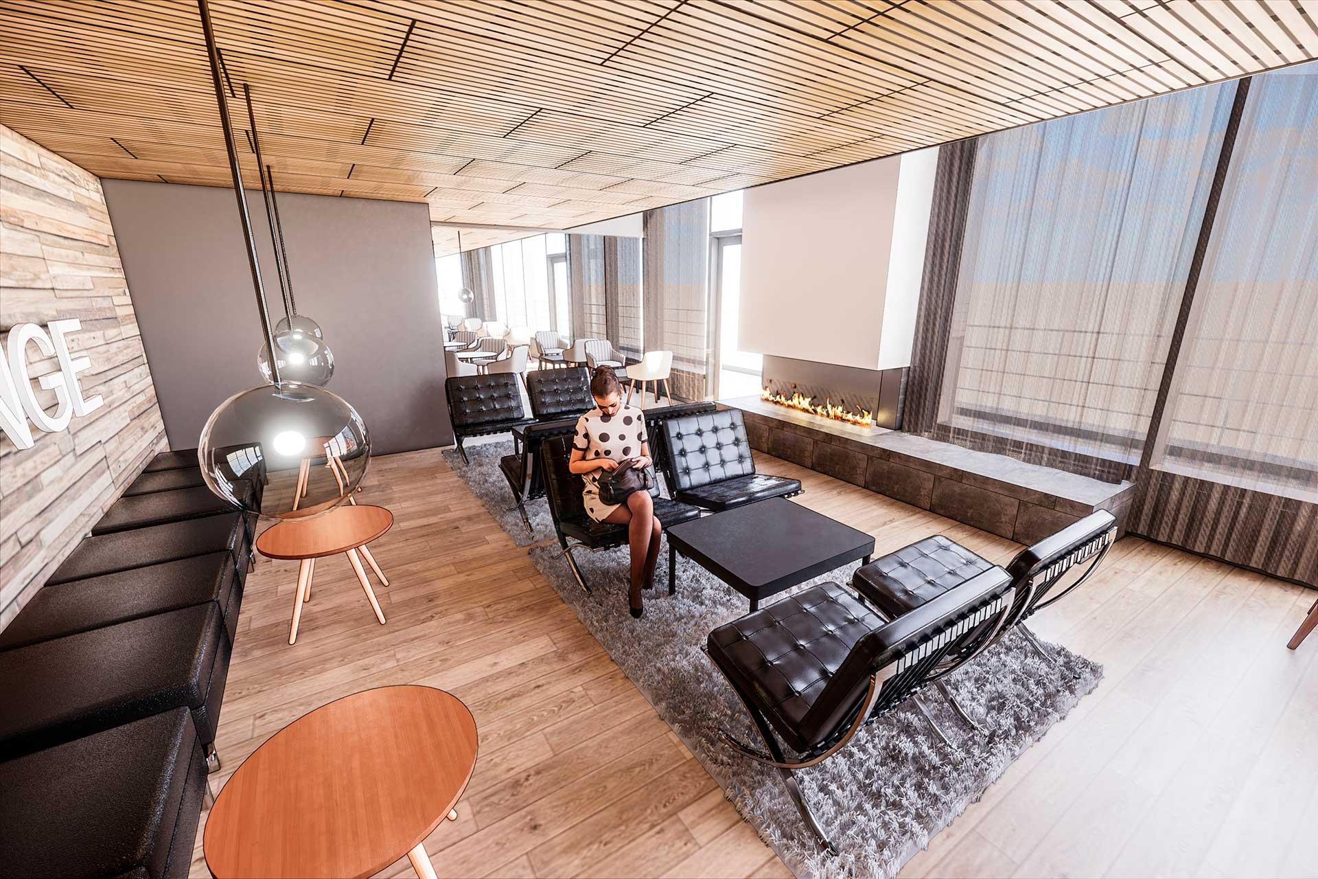 Tyylikäs ja moderni kokoustila Hotel Mattsin ylimmässä kerroksessa Espoossa.