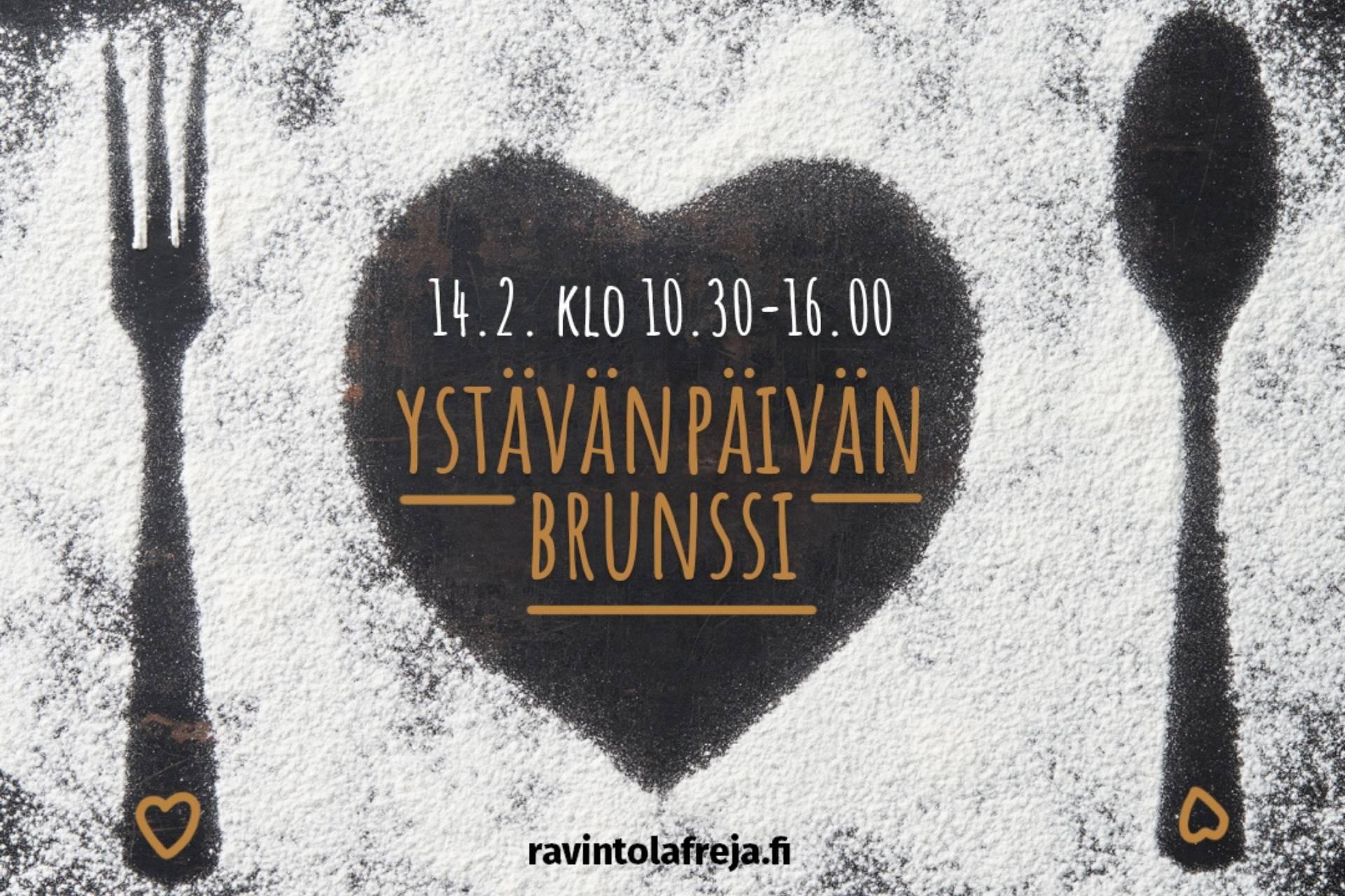Ravintola Frejan ystävänpäiväbrunssi tarjolla Espoossa 14.2.2021