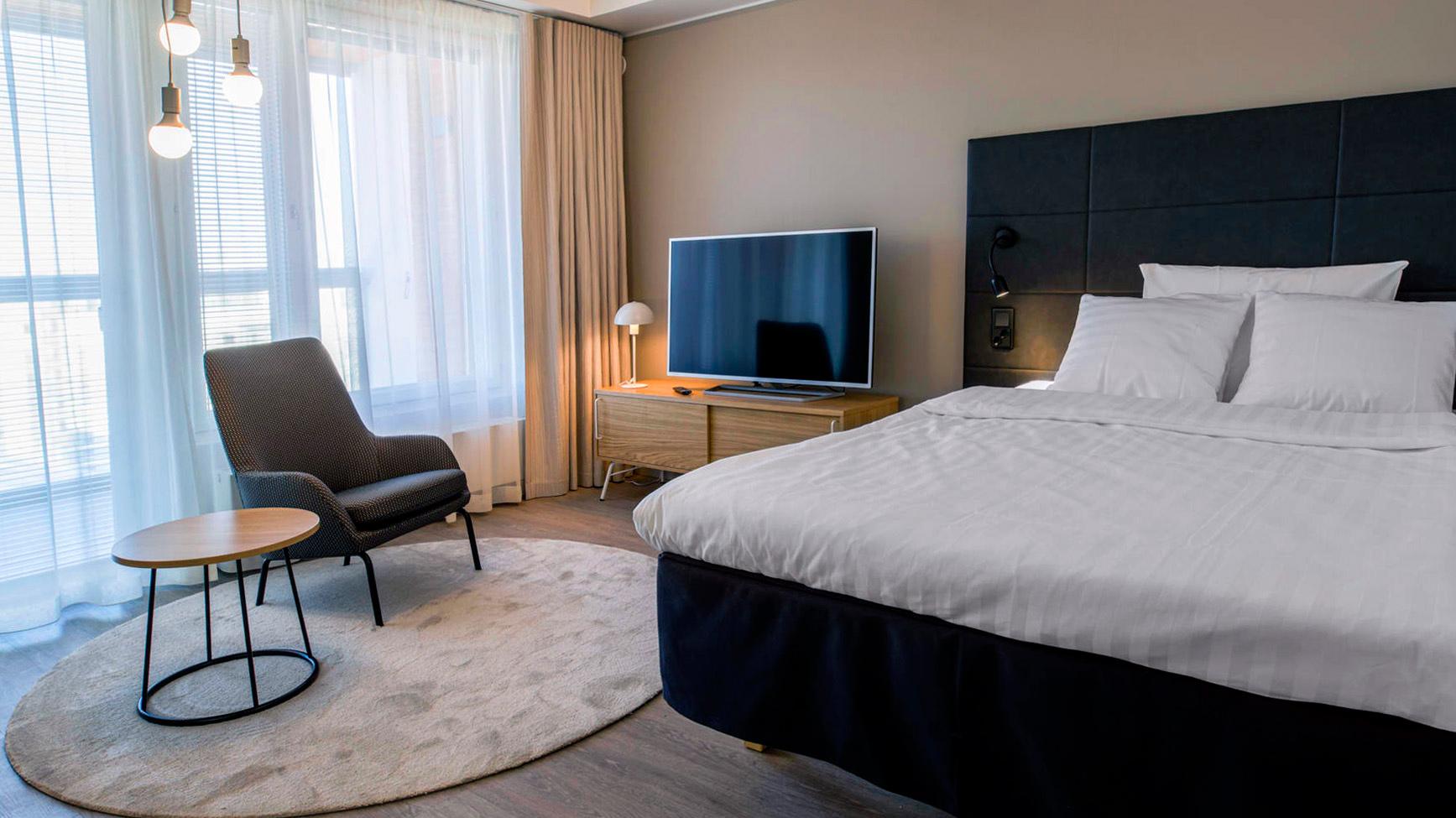 Hotel Mattsin viihtyi huoneisto sopii hyvin pidempiaikaiseen majoittumiseen.