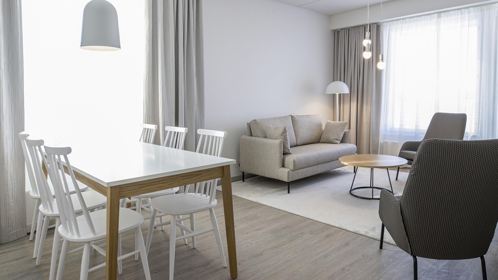 Hotel Mattsin tyylikkäät huoneistot Espoon Matinkylässä.