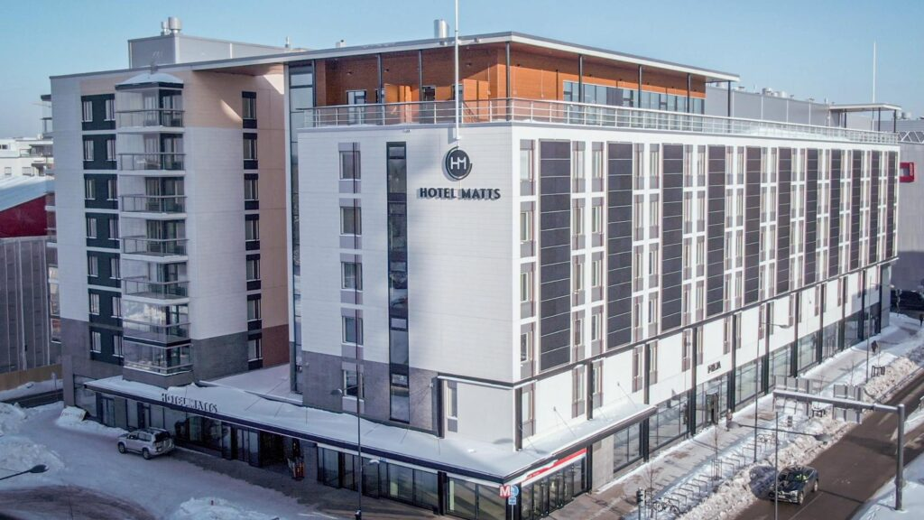 Uusi, moderni hotelli ja huoneistohotelli Hotel Matts sijaitsee Espoon Matinkylässä.