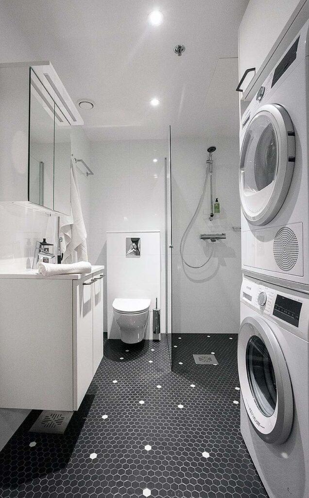 Hotel Matts huoneistohotellin kylpyhuone.