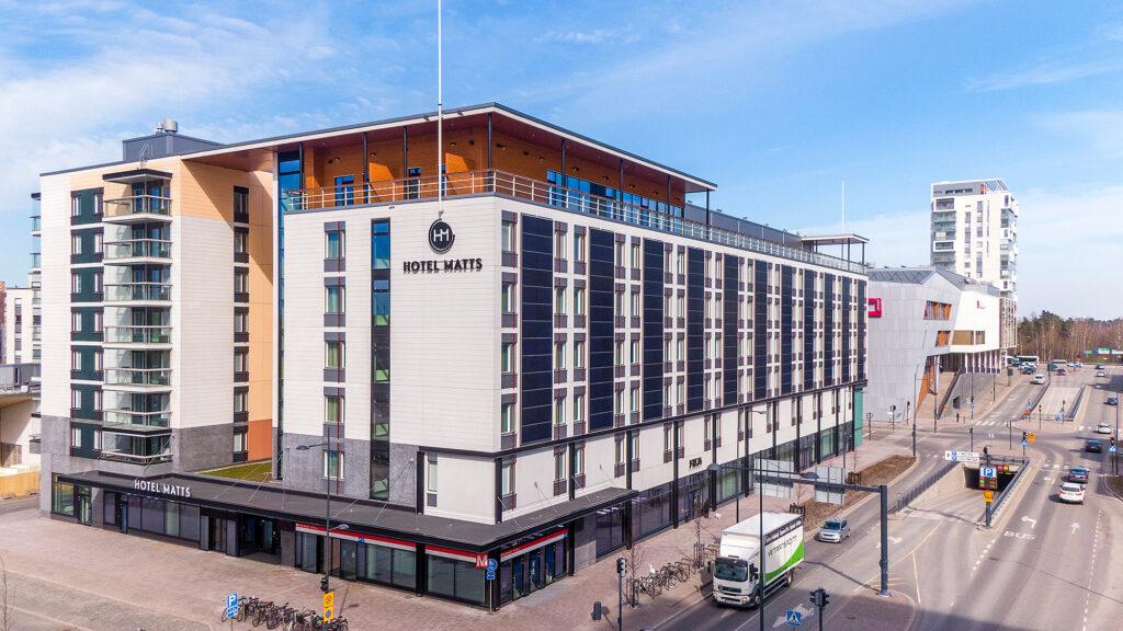 Huoneistohotelli ja hotelli Hotel Matts Espoon Matinkylässä.
