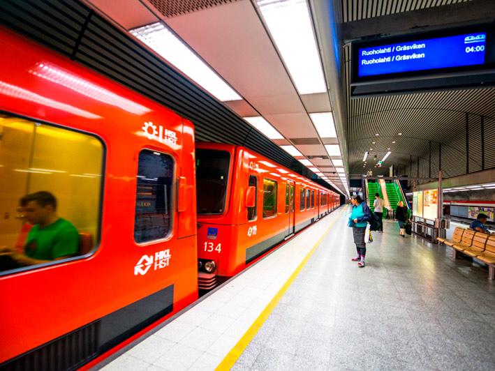 Metroasema länsimetron varrella.