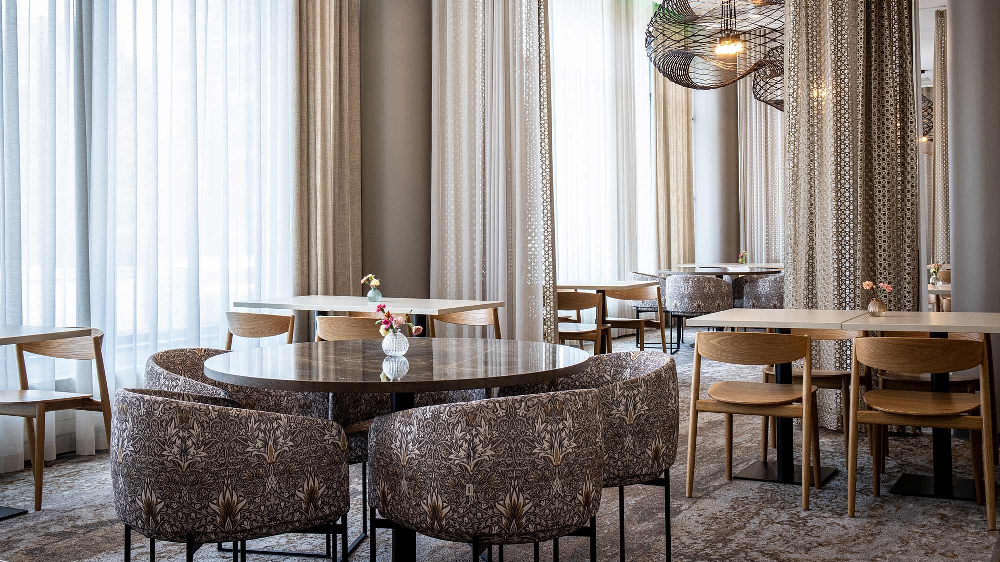 Hotel Mattsin alakerran ravintola Frejan ravintolasali.