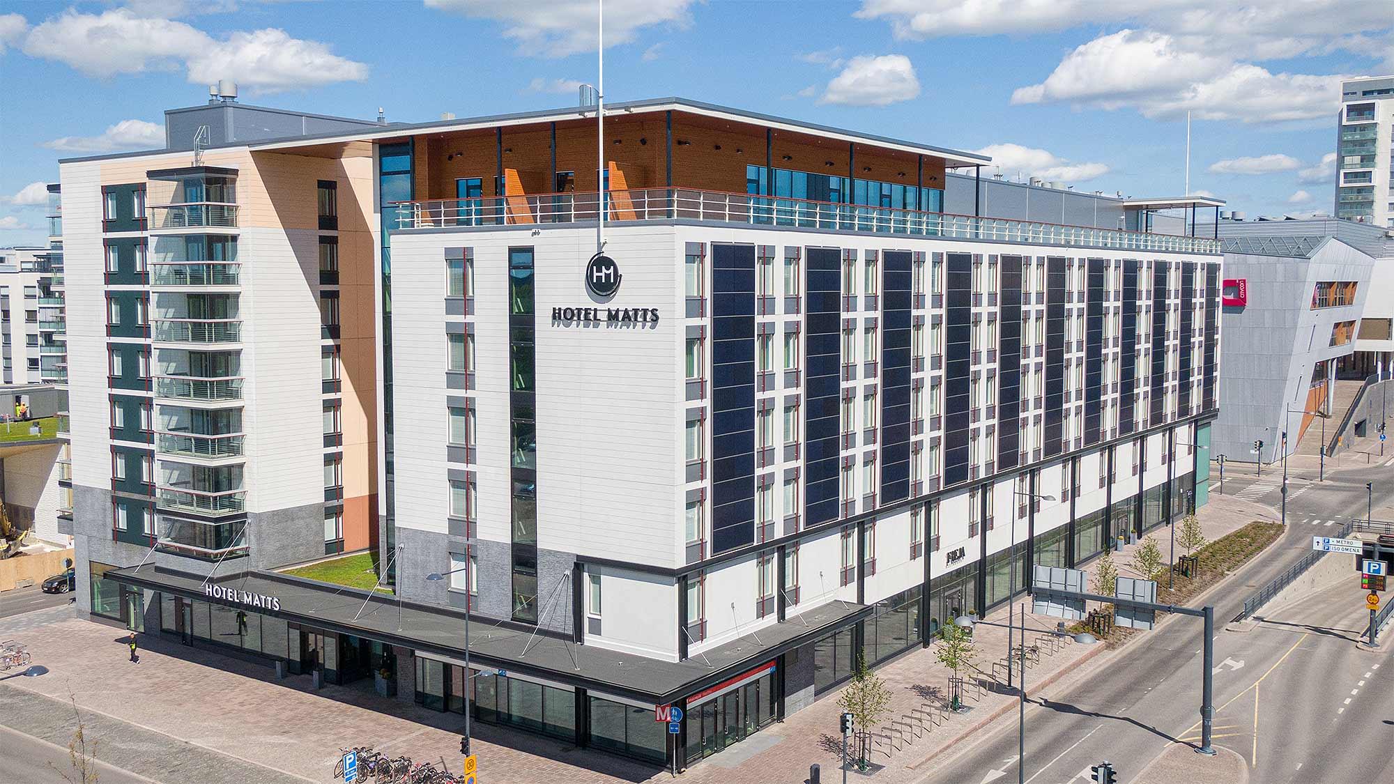 Hotelli Hotel Matts Espoon Matinkylässä.