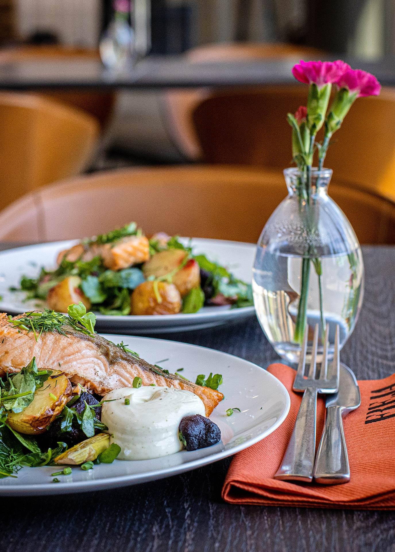 Ravintola Frejan annokset Espoon Matinkylässä.